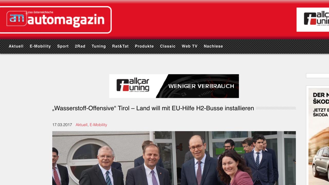 """""""Wasserstoff-Offensive"""" Tirol – Land will mit EU-Hilfe H2-Busse installieren"""