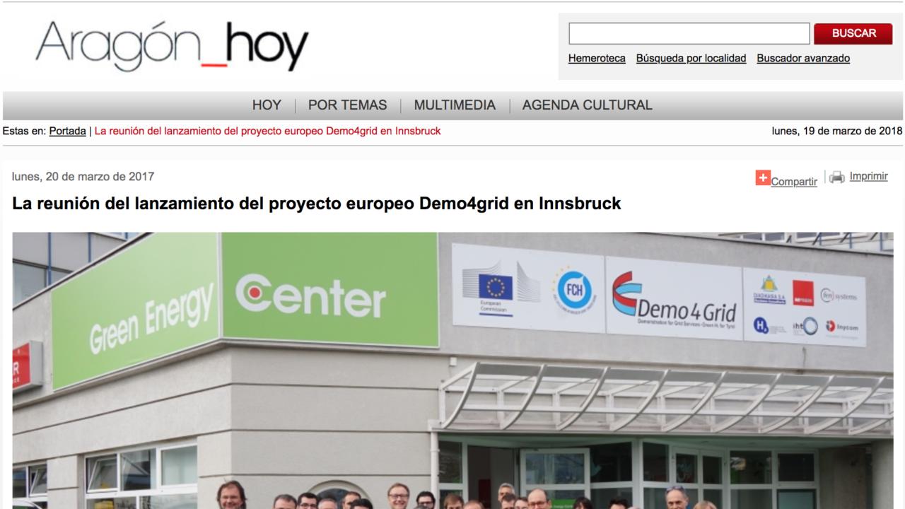 La reunión del lanzamiento del proyecto europeo Demo4grid en Innsbruck