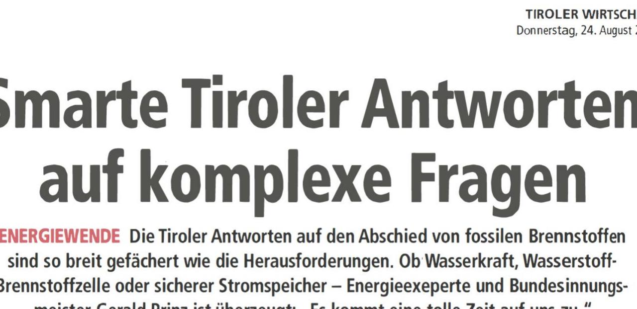 Smarte Tiroler Antworten auf komplexe Fragen