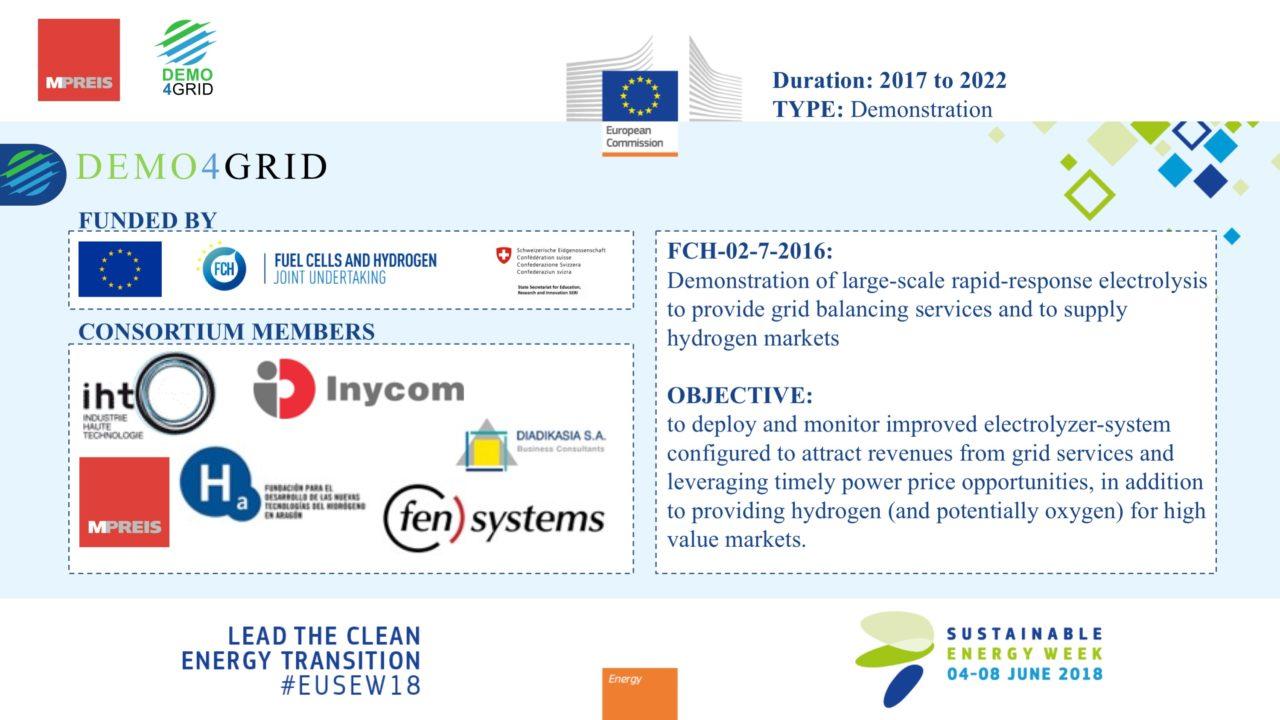 Demo4Grid Presentation of Ewald Perwög at the Sustainable Energy Week in Brussels