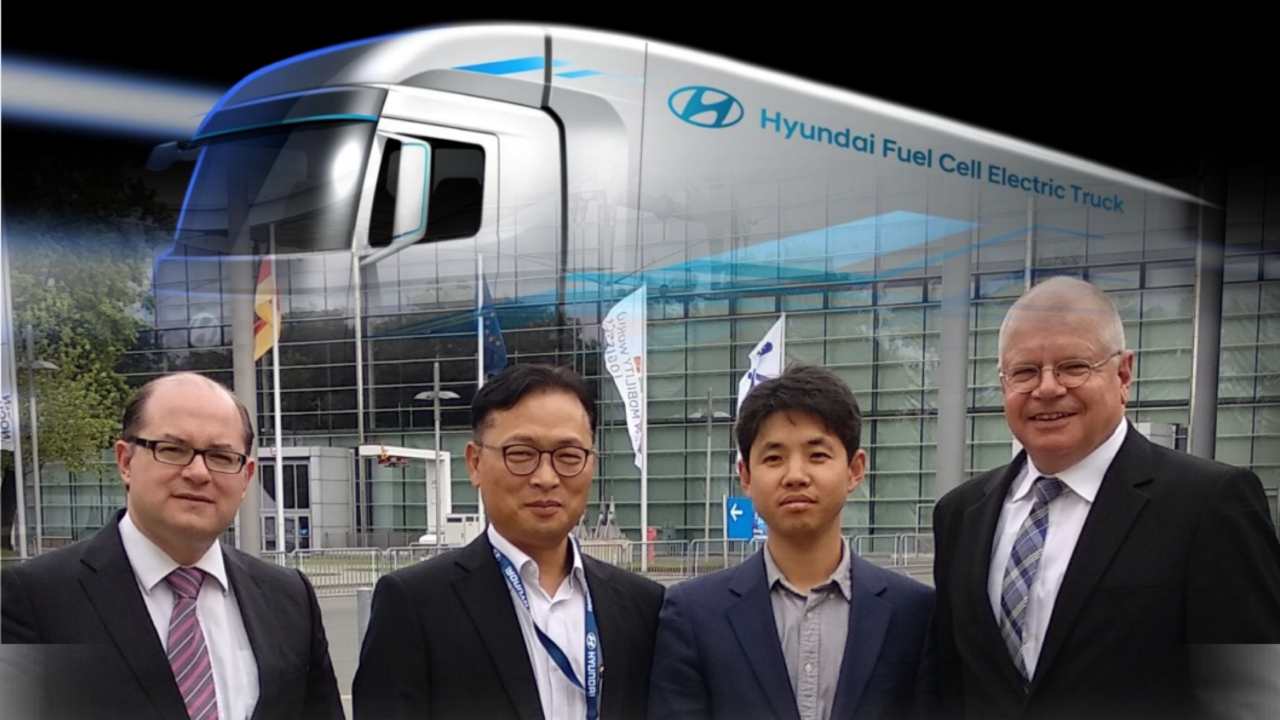 Hyundai Fuel Cell Electric Trucks for projects of the Green Energy Center Europe