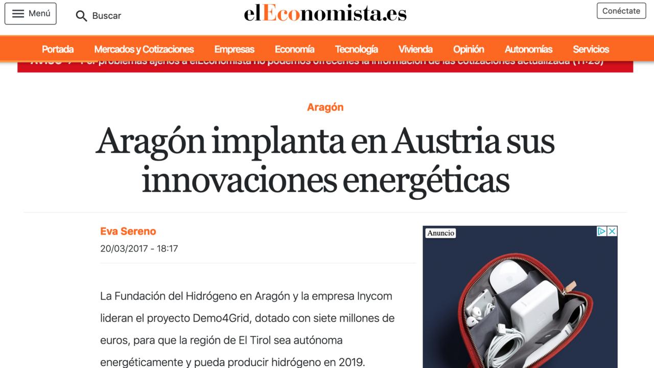Aragón implanta en Austria sus innovaciones energéticas