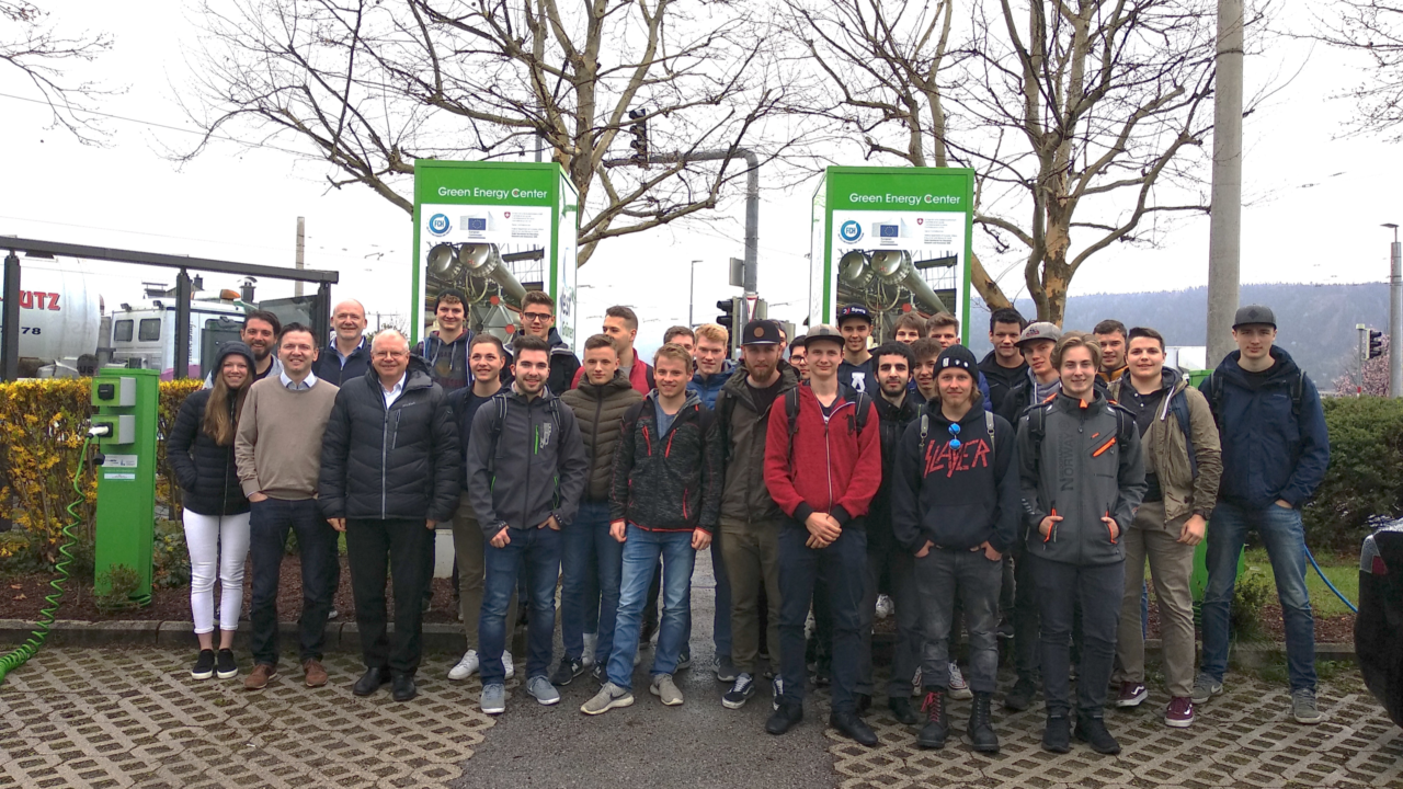 Two graduate classes from HTL Innsbruck visited the Green Energy Center Europe